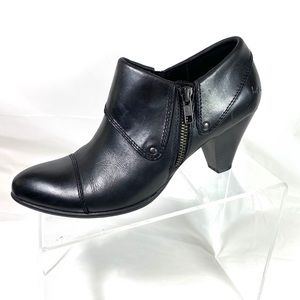 Boc By Born Booties Black Leather Zip Size 8 M